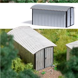 Corrugated metal garage