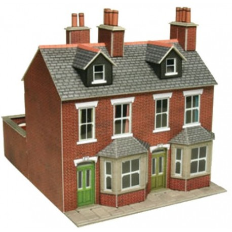 Brick terraced houses