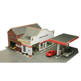 Service station - oo/ho model kit