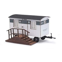 Wooden portable trailer toilet