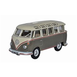 Volkswagen T1 Samba Bus Mouse Grey And Pearl White