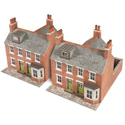 Two Red Brick Terraced Houses - Card Kit