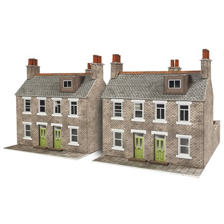 Two Stone Built Terraced Houses - Card Kit