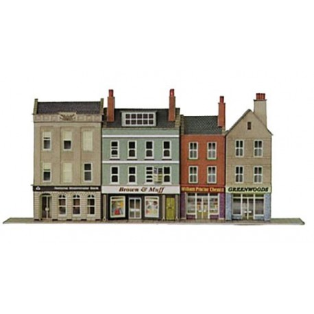 Modern Low Relief Bank & Shops - Card Kit