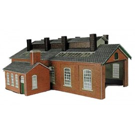 Red Brick Engine Shed 2 Track - Card Kit