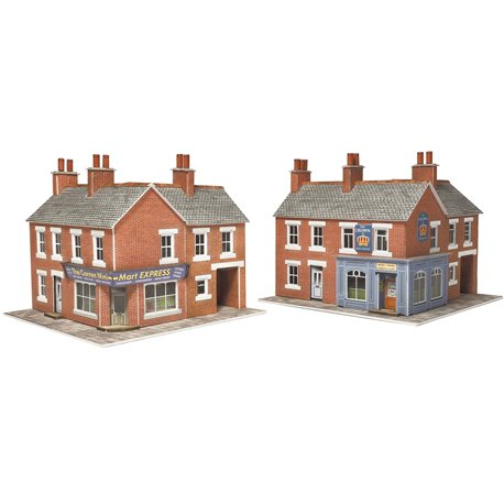 Corner Shop & Pub Card Kit - Red Brick