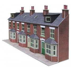 DISC***Terraced House Fronts Brick - Card Kit
