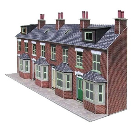 Terraced House Fronts Brick Card Kit