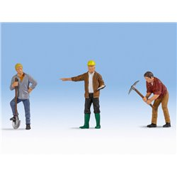 Construction Workers (3) Figure Set