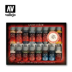 AV Vallejo Game Color Set - Leather and Metal (x16)