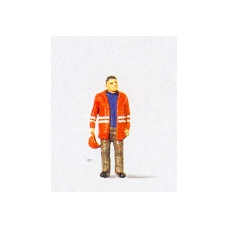 Rail Worker In High Visibility Clothing