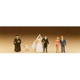Wedding Group Protestant (6) Figure Set