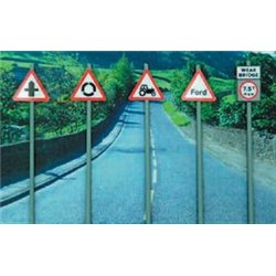 Modern Road Signs - Warning signs
