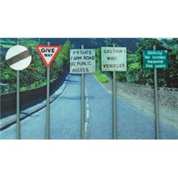 Ancorton OO Gauge Assorted Signs