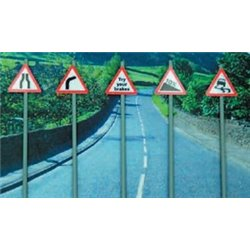Ancorton OO Gauge Warning Signs Pack 3