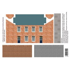 Light old brick houses card kit (x4)