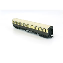 Bundle of 2x GWR Collett coaches dark brown & cream livery with button logo 00 gauge used
