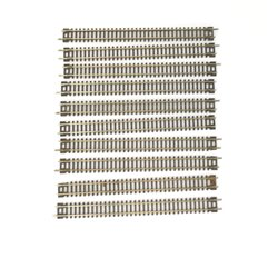 Bundle of 10x N gauge Peco Setrack ST-11 (174mm) straight track sections used