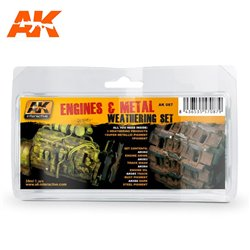 AK Interactive - Engines and Metal Weathering Set