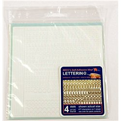 Arial Lettering - 4 mm, Colour: White