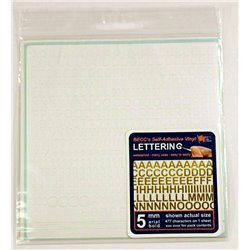 Arial Lettering - 5 mm, Colour: White