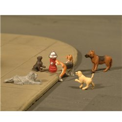 Dogswith Fire Hydrant (6/Pack)