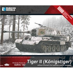 KING TIGER WITHOUT ZIMMERIT - 1/56 scale plastic model kit