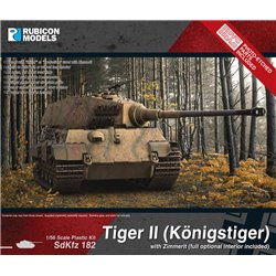 KING TIGER WITH ZIMMERIT - 1/56 scale plastic model kit
