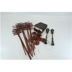 Bundle of G scale scenic items (Buffer, telegraph poles, working station lamps) good condition Used
