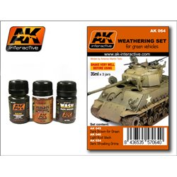AK Interactive - Weathering Set for Green Vehicles