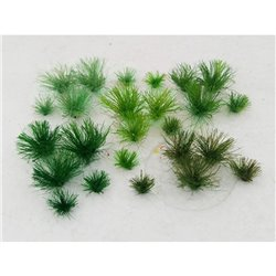 5mm Assorted Green Tufts (30 per pack)