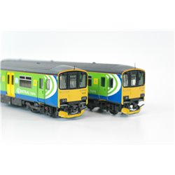 Bachmann 32-926 Class 150/1 Central Trains Sprinter, working lights, DCC fitted, OO gauge, used