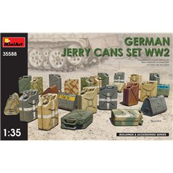 German Jerry Cans Set, WWII 1:35 military model kit