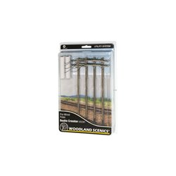 Pre-Wired Poles - Double Crossbar - O Scale