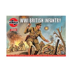 1:76 scale WWI British Infantry figures x48