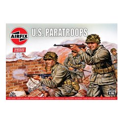 1:76 scale WWII US Paratroops figures x48