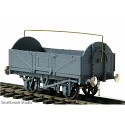 7mm scale 0 gauge 5 - plank Round End Open Waggon Kit
