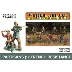 Partisans French Resistance (WWII) - x32 figures 28mm scale