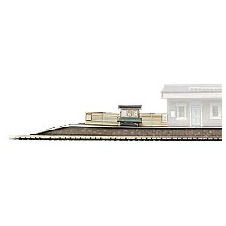 Island Platform - Card Kit, Overall size: 492 x 75 x 16mm
