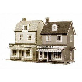 2 Country Town Shops H: 130mm - Card Kit