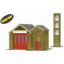 Country Fire Station H: 98mm & Practice Tower H: 145mm - Card Kit