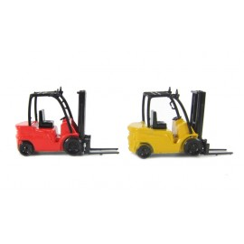 FORKLIFT C/W CAGE TWIN PACK (RED/YELL)