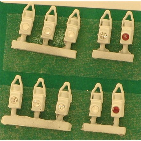 BR Head & Tail Lamps White (10)