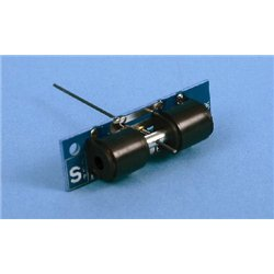 Point motor with polarity switch