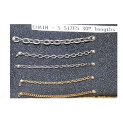 Extra Fine Ring Link Chain (27links/inch)