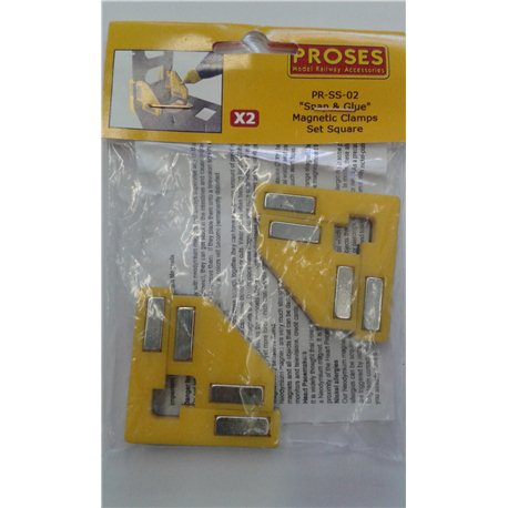 Snap & Glue Set Square (2 Magnetic Clamps w/8 Magnets)