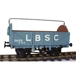 LBSC/SR 5 planks Open Wagon OO unpainted plastic kit