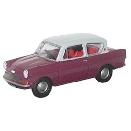 Ford Anglia Maroon/Grey