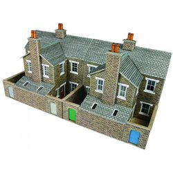 Low relief terraced house backs - stone