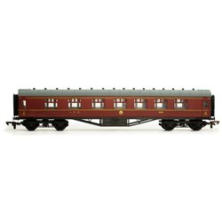 60' Stanier corridor composite in LMS lined maroon